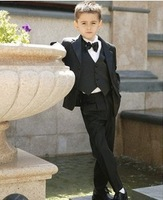 A gentleman in black children suits formal occasions Children's suit/set boy kid winter suit formal wear