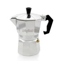 3pcs/lot Aluminum New Stove Top 3 CUPS Continental Coffee Maker Machine Percolator Silver TK0961