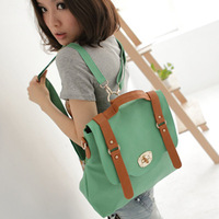 1103 three-color fashion candy color backpack bag vintage backpack handbag cross-body bag hasp