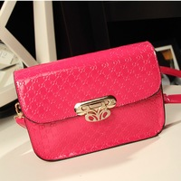 Fashion candy color 2013 lockbutton vintage handbag small bags one shoulder cross-body women's handbag