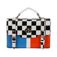 2013 handbag new arrival plaid shaping women's handbag color block bags women's messenger bag female