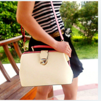 Color block handbag 2012 women's vintage handbag casual handbag messenger handbag