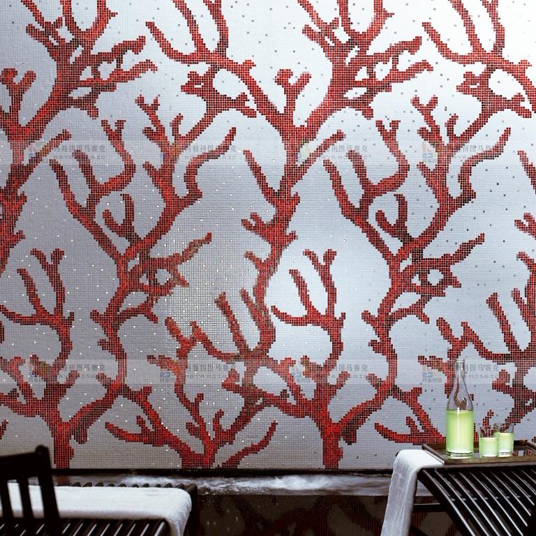 Online kopen wholesale oceaan glazen tegel uit china oceaan glazen tegel groothandel - Rode mozaiek tegel ...