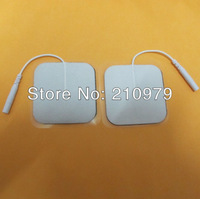 Wholesale  DHL  -  4*4CM 1000ps needle insert non woven electrode pads For TENS UNIT massage High Quality Approved