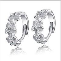 Flower designer hoop earrings fashion eardrop free shipping women Earring