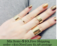 ZH0747 New arrive 4Pcs RINGS Simple Band Midi Mid Nail Finger Rings for women Top Hot Fashion punk Joint Ring Set wholesale