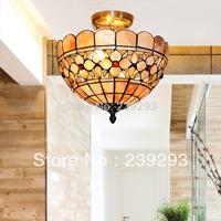 Tiffany Wholesale Free Shipping 110-240V Indoor Tiffany Hanging Pendant Lamp With 12 Inch Blown Handmade Sea Shell Lamp Shade