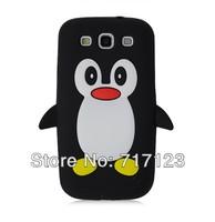1x 3D Lovely Cartoon Penguin Silicone Case Cover Skin For Samsung Galaxy SIII Duos SIII Neo i9301 I9300i i9308 S3 I9300