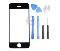 Replacement Front Screen Outer Glass Lens Cover for iPhone 5 5th with Free Open Tools