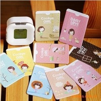 New Arrival Wholesale 100pcs/lot Lovely Cookys Girl Printed Bus Metro Credit Business ID Card Holder Case Cover 2 Slots