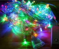 9 Colors Christmas Decorative Trees LED EU Plug Snowflake Shape Christmas 100LED Decoration Bulbs 10m String Lights 220V