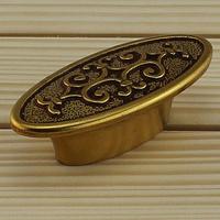 High grade zinc alloy closet pull European copper archaize single hole furniture handle Classical drawer/closet knobs