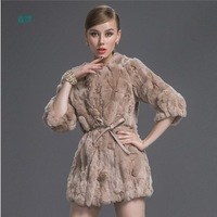 Rabbit fur grass long sections coat new 2013 big yards Ms. Discounted splicing
