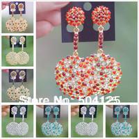min.mix order is $10-- Crystal dangle earrings diamante chandelier statement cutout pan korea kpop wedding luxury