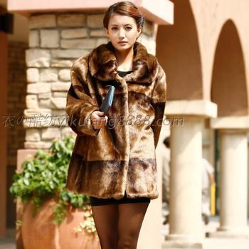 Free Shipping 2013 Quinquagenarian women's winter imitation mink marten velvet overcoat thermal winter fur coat plus size