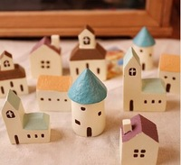 Small place small house Aegean zakka resin handicraft gift items children cute