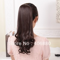 Best selling! Pear roll long curly tail hair piece tiedtype roll ponytail synthetic hair extension Free shipping