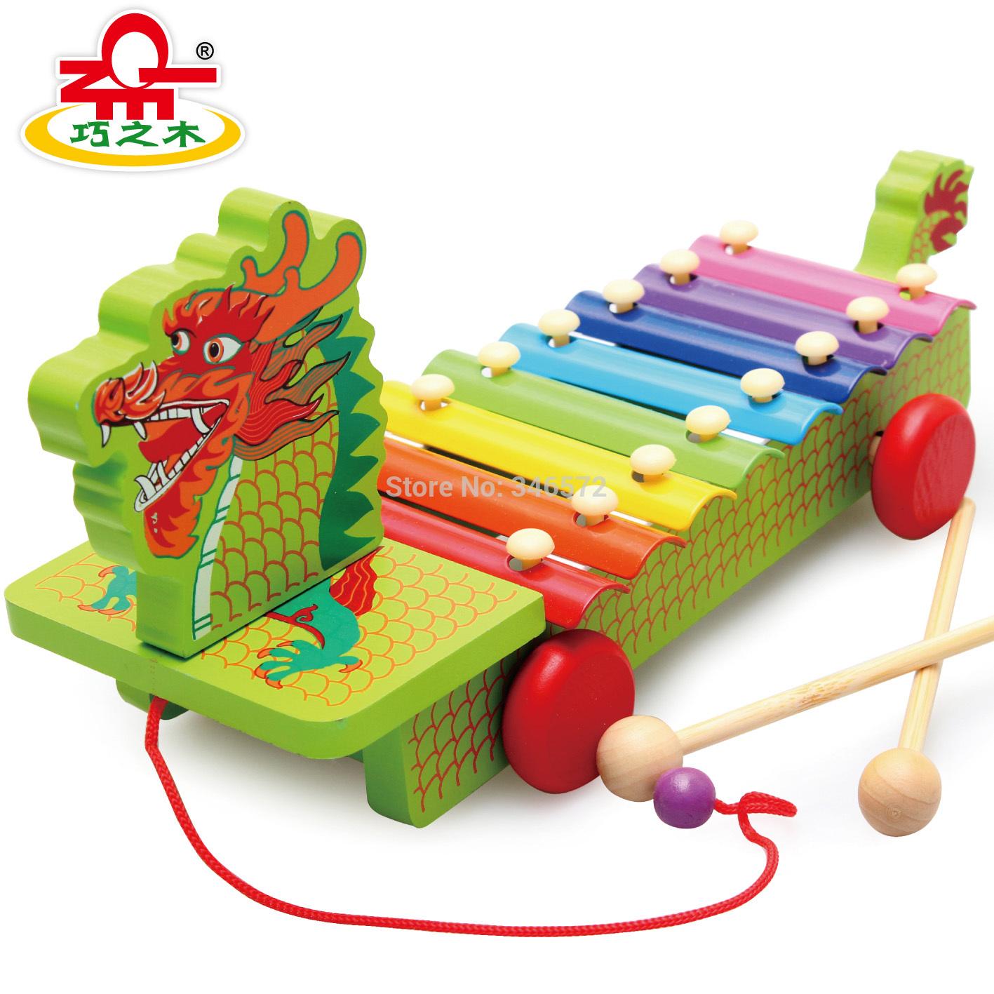 2014 kids blocks toys Wood child music teaching aids 8 violin hand knocking piano wooden educational toys(China (Mainland))