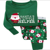 2014 new winter long sleeve t-shirt & pants baby girl clothing,,kids clothing set,winter suit for boy ,baby wear pajamas