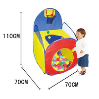 Kids Play Foldable Tent set with small hope come with 36 small plastic balls 12pieces tents a lot