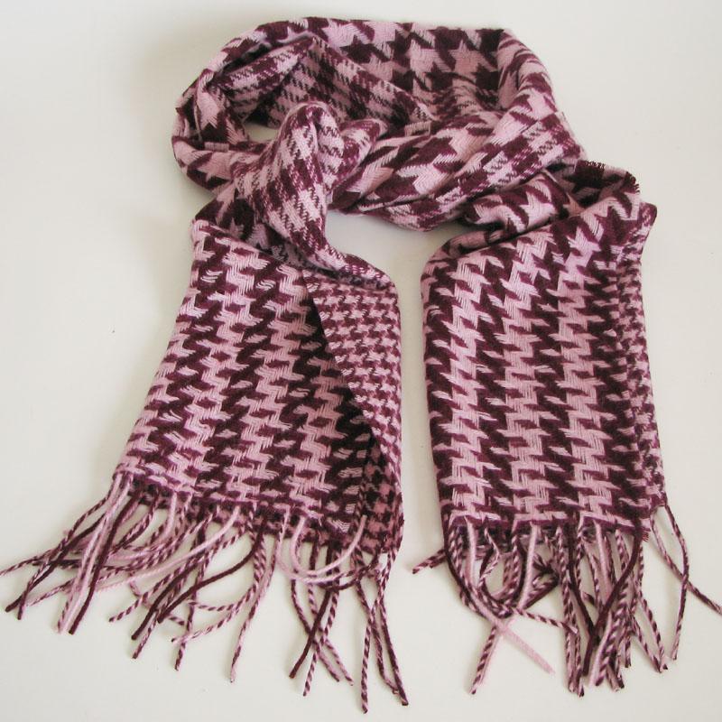 Phototheodolite multicolour houndstooth scarf trophonema blending cashmere scarf purple wh-046(China (Mainland))