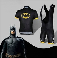 2014 Hot Bat-Man Cycling Kits Batman Bicycle Suit Bike Short Jersey+Bib Short ciclismo Size xs-4XL