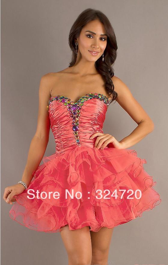 Beading crystal short tulle prom dress corset damas dress car tuning