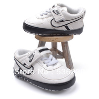 RETAIL,Free Shipping! Hot sale star Spring and autumn and winter PU white baby shoes baby toddler shoes soft bottom