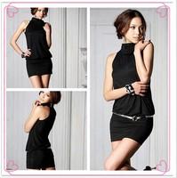 Женский эротический костюм Sexy lingerie black lace dress+g string+garter set sexy sleepwear, sexy uniform W1034