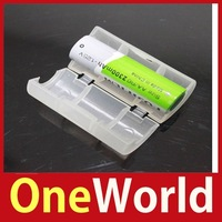 [One World] 2x AA to C Size Battery Converter Adaptor Adapter Case Save up to 50%