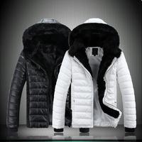 men's winter coat! 2013 men's fur hoodies thickening wadded jacket outerwear,Man's leisure warm waterproof 5xl down parkas,1219