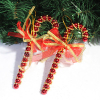 Christmas tree decoration christmas bead 15cm bow christmas wreath rattails 30g 2 s