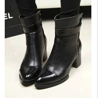 2013 women's spring and autumn thick heel martin boots fashion women high-heeled thick heel ankle boots motorcycle boot