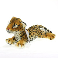 End of a single plush toy leopard unique super soft dolls flowers at home decoration