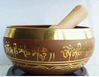 wholesale Tibetan Bronze Diameter 9cm AAA Buddhist Chinese bronze bowl from Tibet chant Strike Bowl
