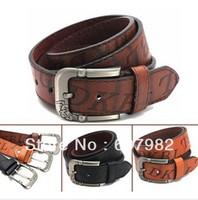 Belt Letter  Men High Quality Belt Leather Men PU + Cowskin  Material  Black Brown  Colors Belt Jeans For Men  P142