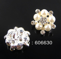 Alloy Full Of Crystal Button Spark Rhinestone Buttons, Rhinestone 19.5mm Silver Plating Garment Accessories