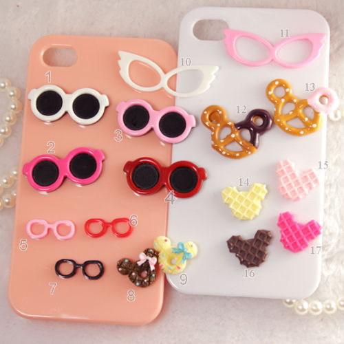 15 pc óculos / Mickey / Minnie Mouse resina natator botão / grânulo / enfeite / artesanato(China (Mainland))