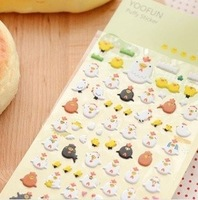 Chick bubble  sponge  cartoon decoration sticker 10g