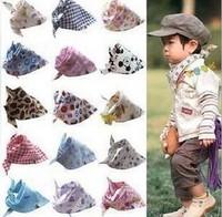 10pcs/lot new 2013 Baby Kid Toddler Bandana Bibs Saliva Towel Dribble Triangle bor girls Head Scarf Various Styles FG018