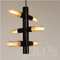 Designer style modern minimalist Scandinavian IKEA semaphore six light chandelier lighting