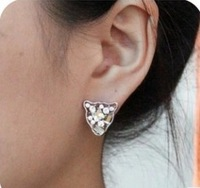 Wholesale 2014 New Arrived Fahion Elegant Atmosphere Panther Head Drill Rhinestone Stud Earring JE35