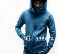 2013 fall and winter clothes men's hooded windbreaker men's jackets men's high neck cap