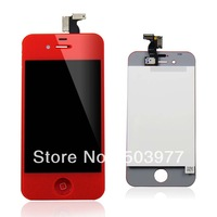 2013 HOT Sale for iphone 4s Red kit lcd+back cover color conversion kits with Free Shipping