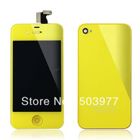 Free shipping with Yellow Colour Conversion kits for iPhone 4s,for Apple iPhone Housing kit