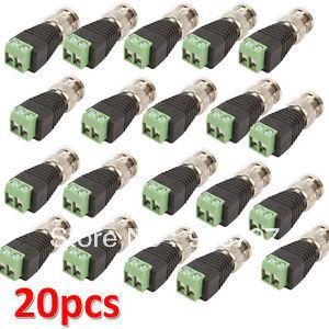 Lot 20 pcs Coax CAT5 To Camera CCTV BNC Video Balun Connector A001