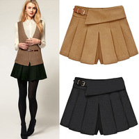 2013 autumn and winter new women's plus size woolen short skorts / pants