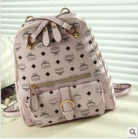 Free ship 2013 school bag new arrival candy color shoulder bag casual handbag candy color backpack
