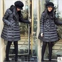2013 medium-long raccoon fur bow cloak oblique zipper Women down coat