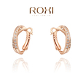 ROXI Christmas gift luxury Earrings,rose gold plated genuine Austrian crystals 100% handmade fashion jewelry,2020047440